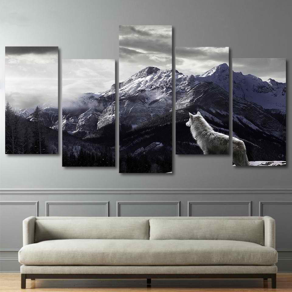 Barato Prints Hd Lona Arte Da Parede Da Sala Home Decor Pictures 5