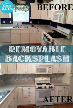 Kitchen Makeover On The CHEAP. Use Contact Paper To Update Your Kitchenu0027s  Back Splash.