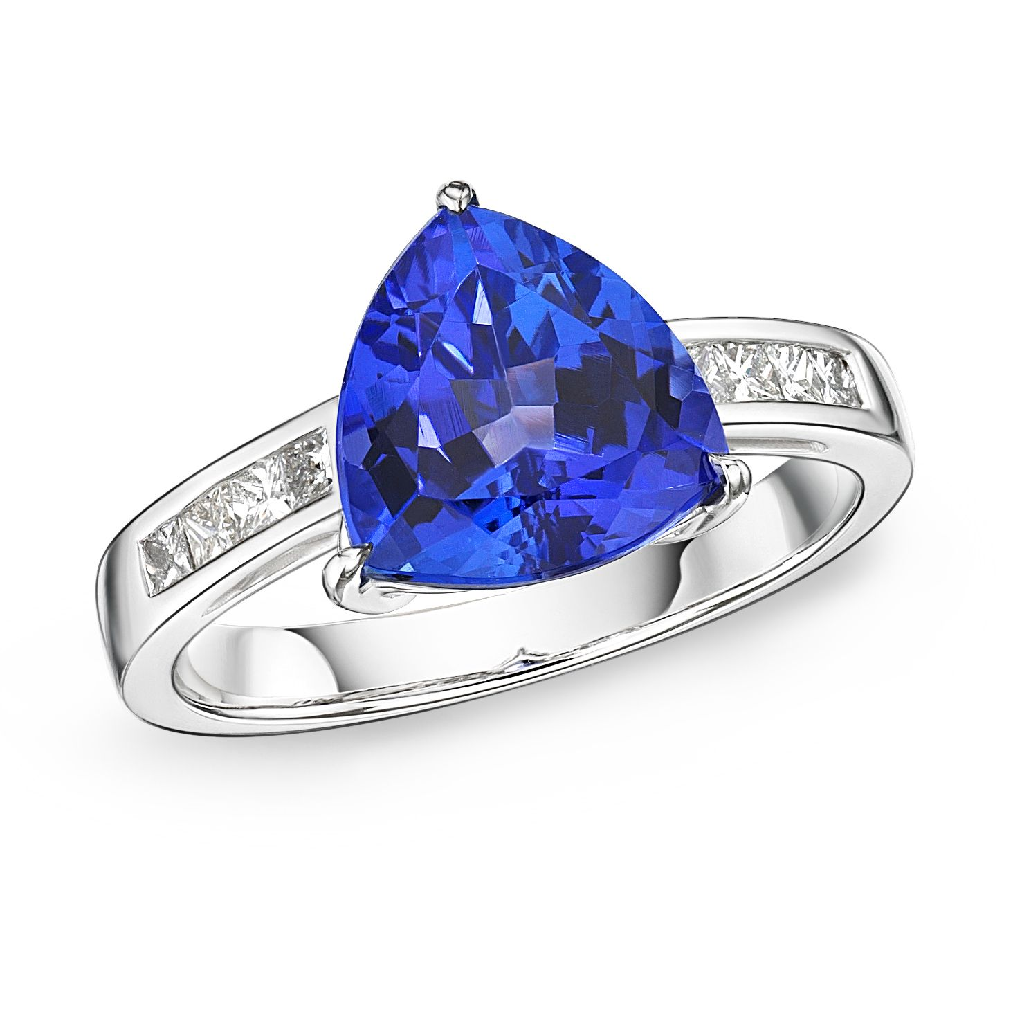 trillion silver ring sizes sterling tanzanite cut pin and cz