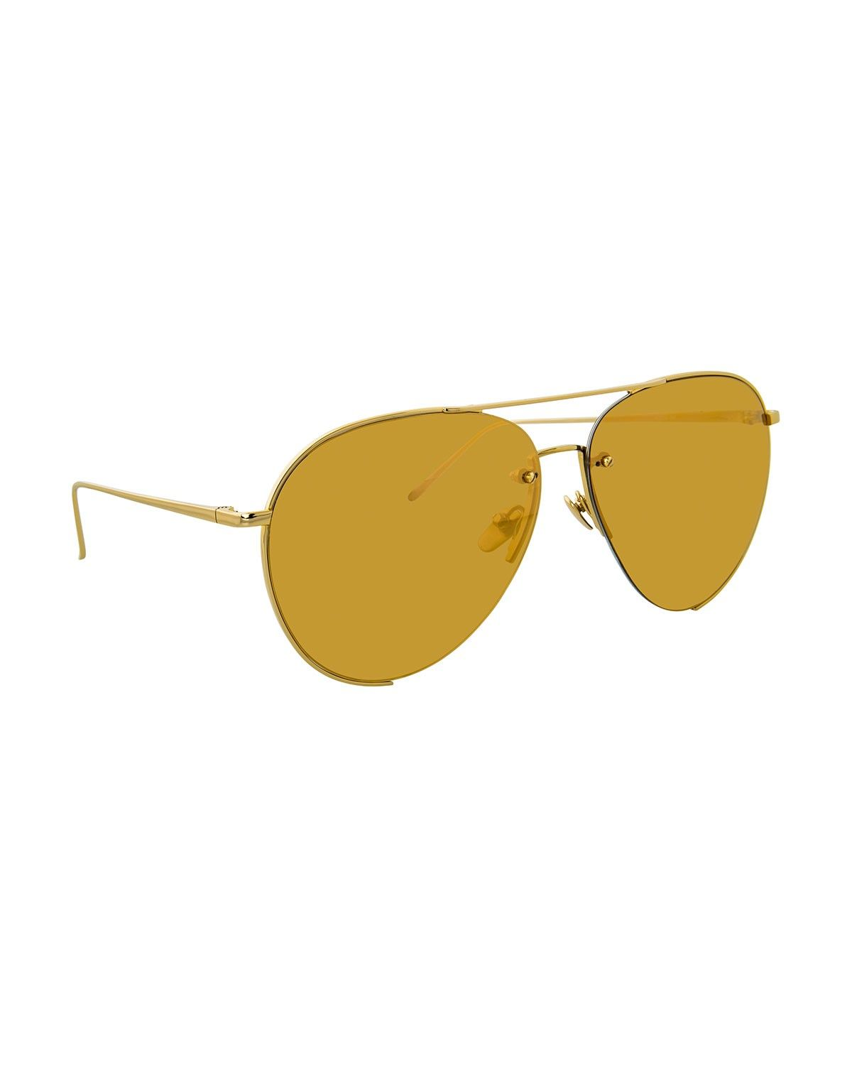 bee007e7e10 LINDA FARROW Semi-Rimless Mirrored Aviator Sunglasses.  lindafarrow ...