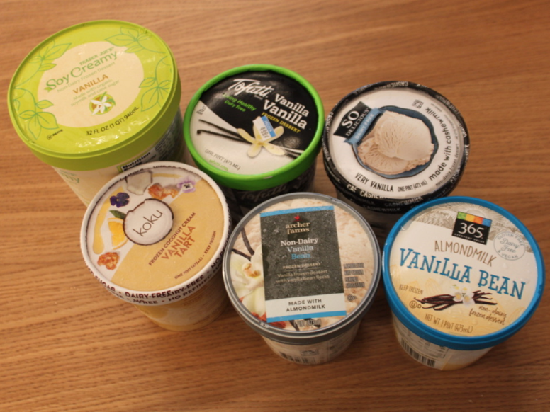We Tried Six Brands Of Non Dairy Vanilla Ice Cream To See Which One We Liked Best Trader Joe S Soy Vanilla Ice Cream Non Dairy Ice Cream Almond Milk Ice Cream