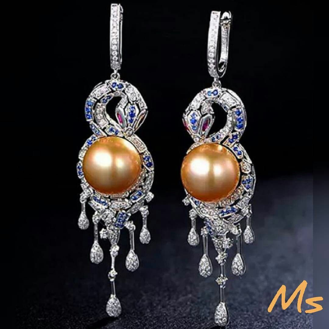 Pearls​_​diamonds​_​earrings @ms.jewellerydesign