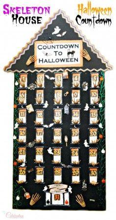 Skeleton House Halloween Countdown