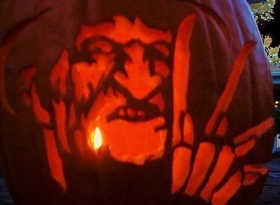 Freddy Krueger Pumpkin Scary Halloween Decorations Fall