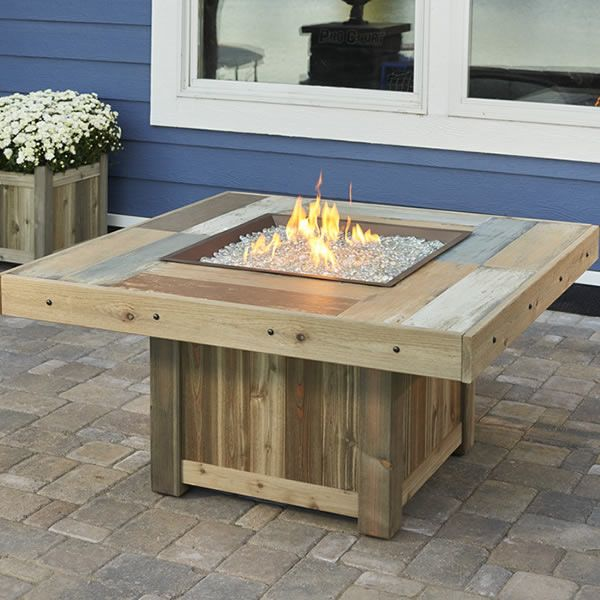 High Quality Vintage Gas Fire Pit Table