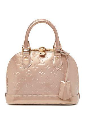 31881a47116a Louis Vuitton Beige Poudre Monogram Vernis Alma BB