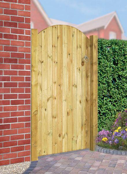 Carlton Tall Wooden Side Gate Bow Top Garden Design