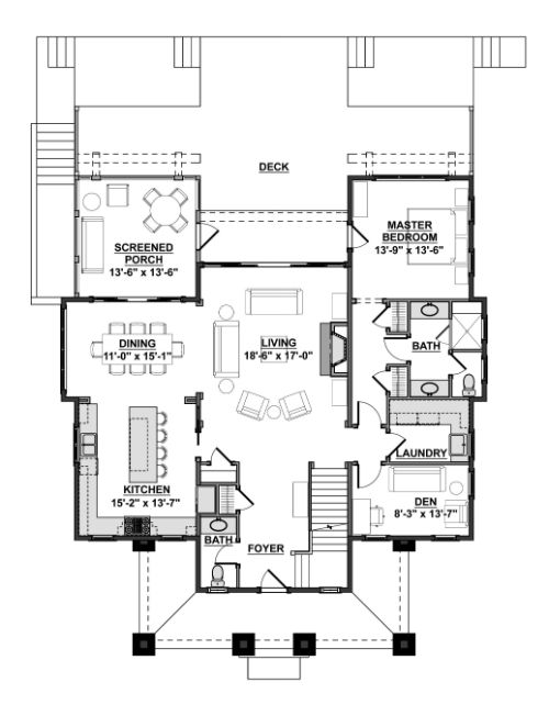 Designer Dream Homes - First Floor Plan