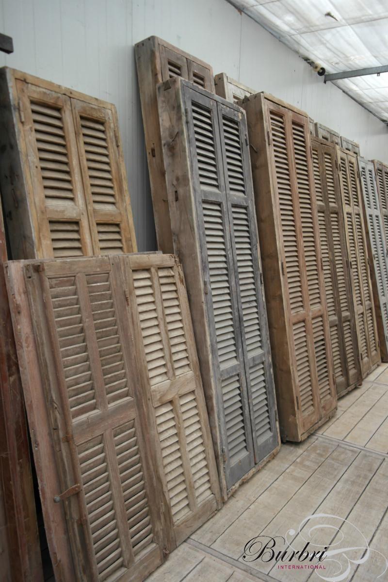 Vaak Oude kozijnen met louvre deuren - Oude bouwmaterialen - Burbri #PN72