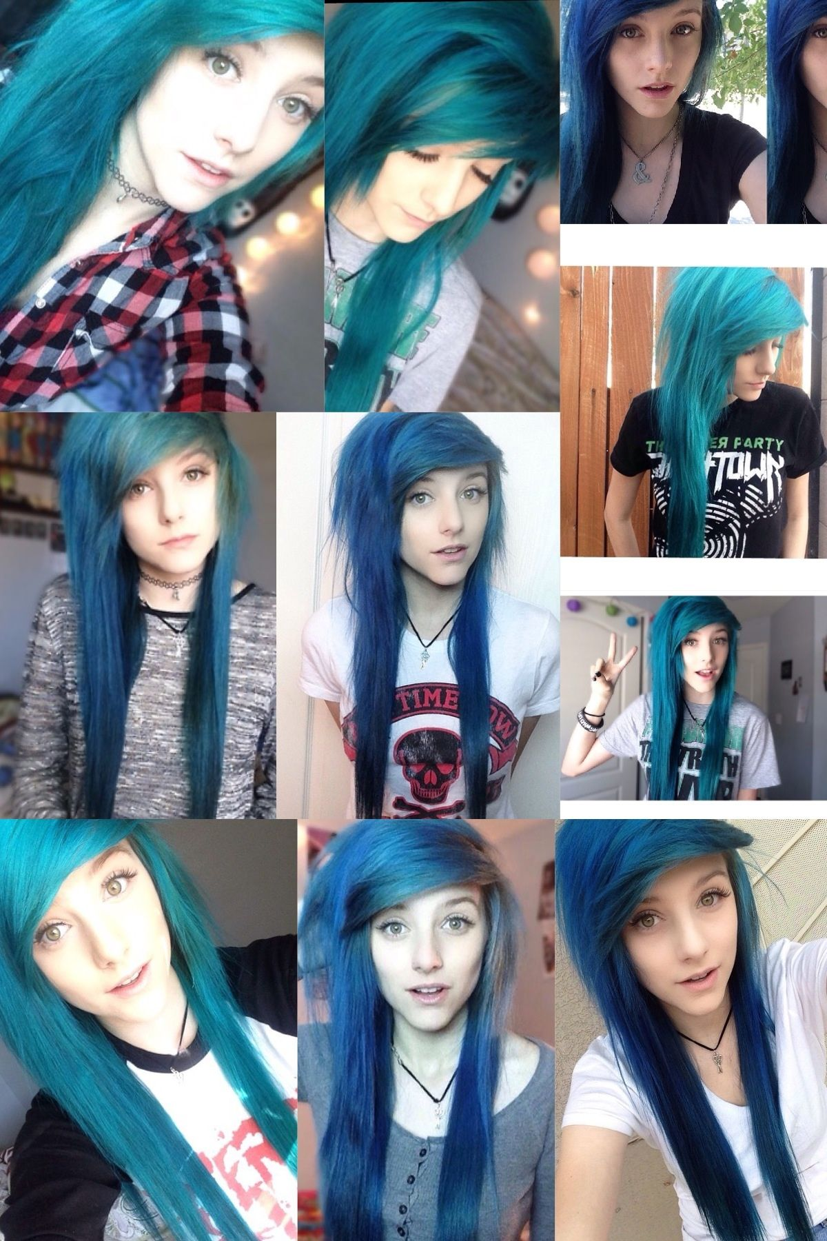 Alex dorame blue alternative hair love it pinterest