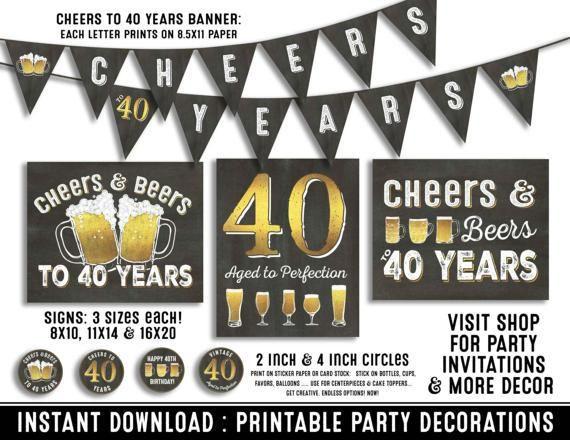 40th Birthday Decorations