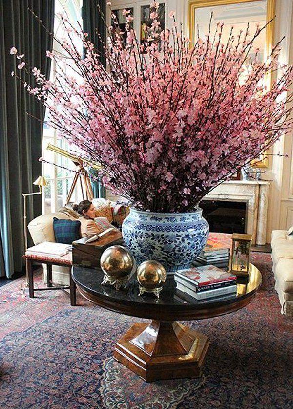 35 Vases And Flowers Living Room Ideas Floral Arrangements Blue White Decor Decor