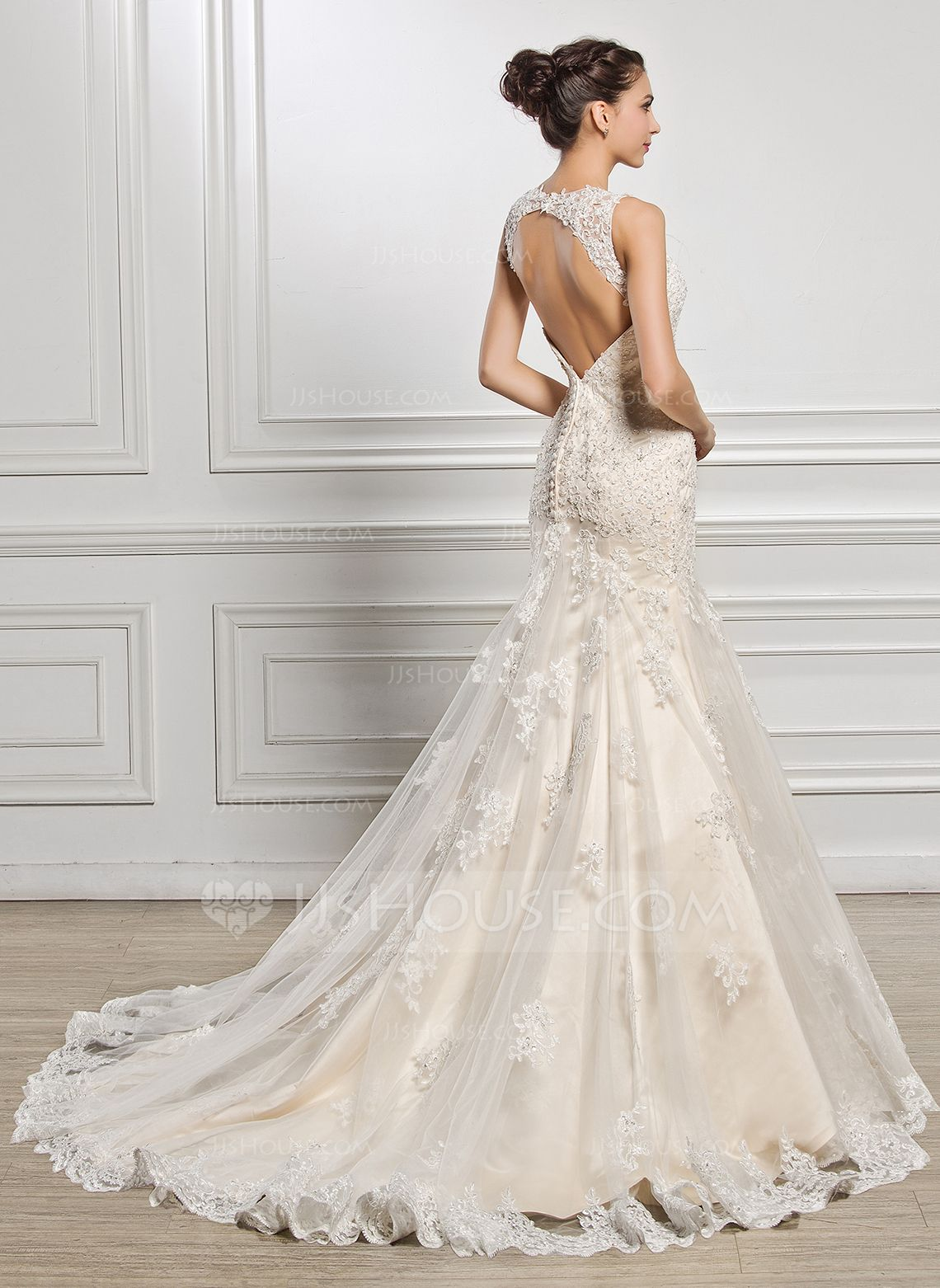 Us 442 00 Trumpet Mermaid Sweetheart Court Train Tulle Lace Wedding Dress With Beading Sequins Jj S House Wedding Dresses Lace Cheap Wedding Dress Wedding Dresses [ 1562 x 1140 Pixel ]
