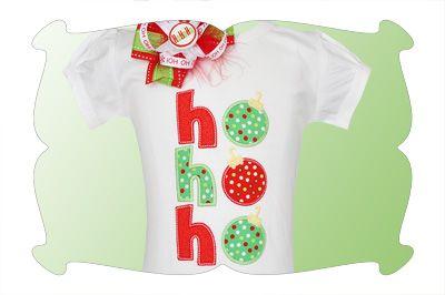 A christmas applique as jolly as santa! ho ho ho! christmas