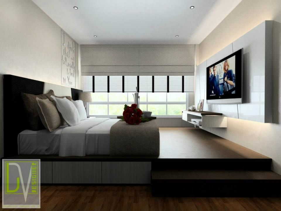 These Are The Design Photos Of An Executive Condo At 98 Punggol Drive Platform Bed Also Maximises Storage Space In Small Bedroom