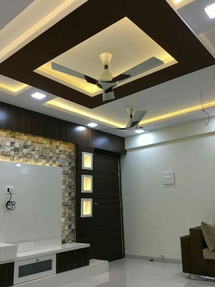 False Ceiling Designs For Living Room In Flats: #tvunitdesign Home Interior Designers In Thane
