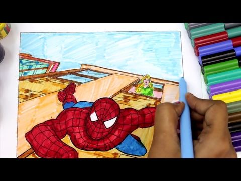 Spiderman Coloring Pages For Kids How To Color Spiderman Coloring Books Youtube Spiderman Coloring Coloring Pages For Kids Coloring Books