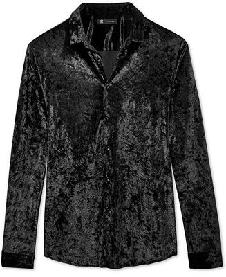 46f05c904 INC International Concepts I.N.C. Men's Crushed Velvet Shirt, Created for  Macy's - Casual Button-Down Shirts - Men - Macy's