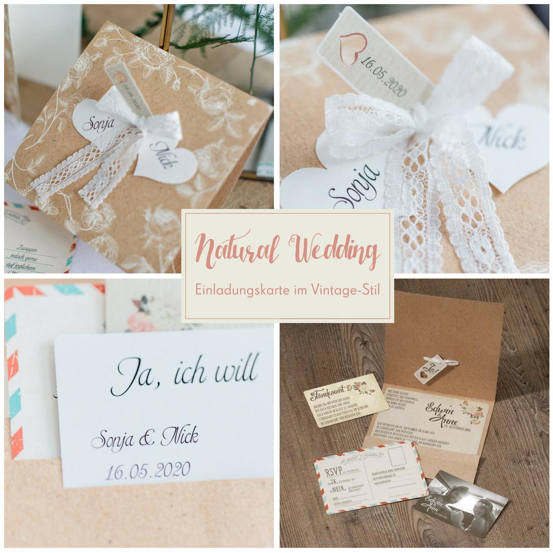 Einladungskarte Hochzeit Marcella Einsteckkarte Mit Herzen Und