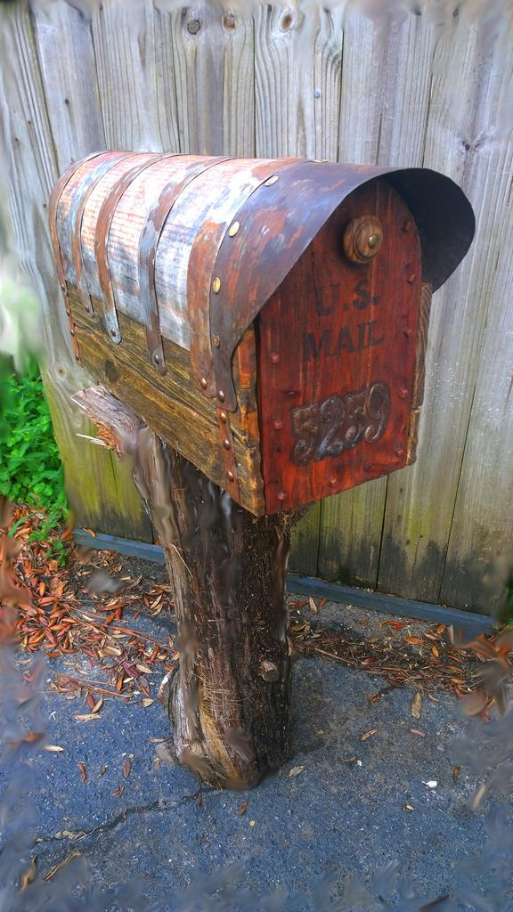 Country Style Mailbox Rustic Mailboxes Antique Mailbox How To Antique Wood