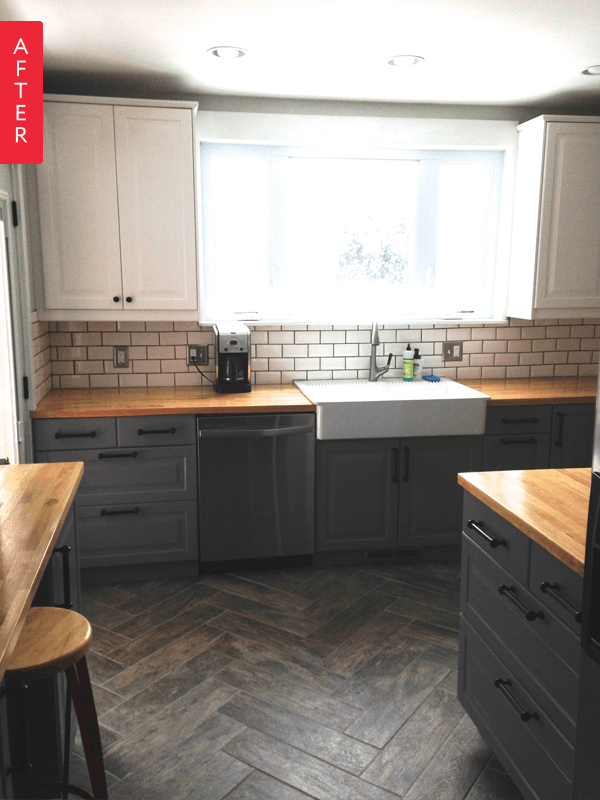 """Best Before After """"Single Wide"""" Kitchen Opens Up Mobile 400 x 300"""