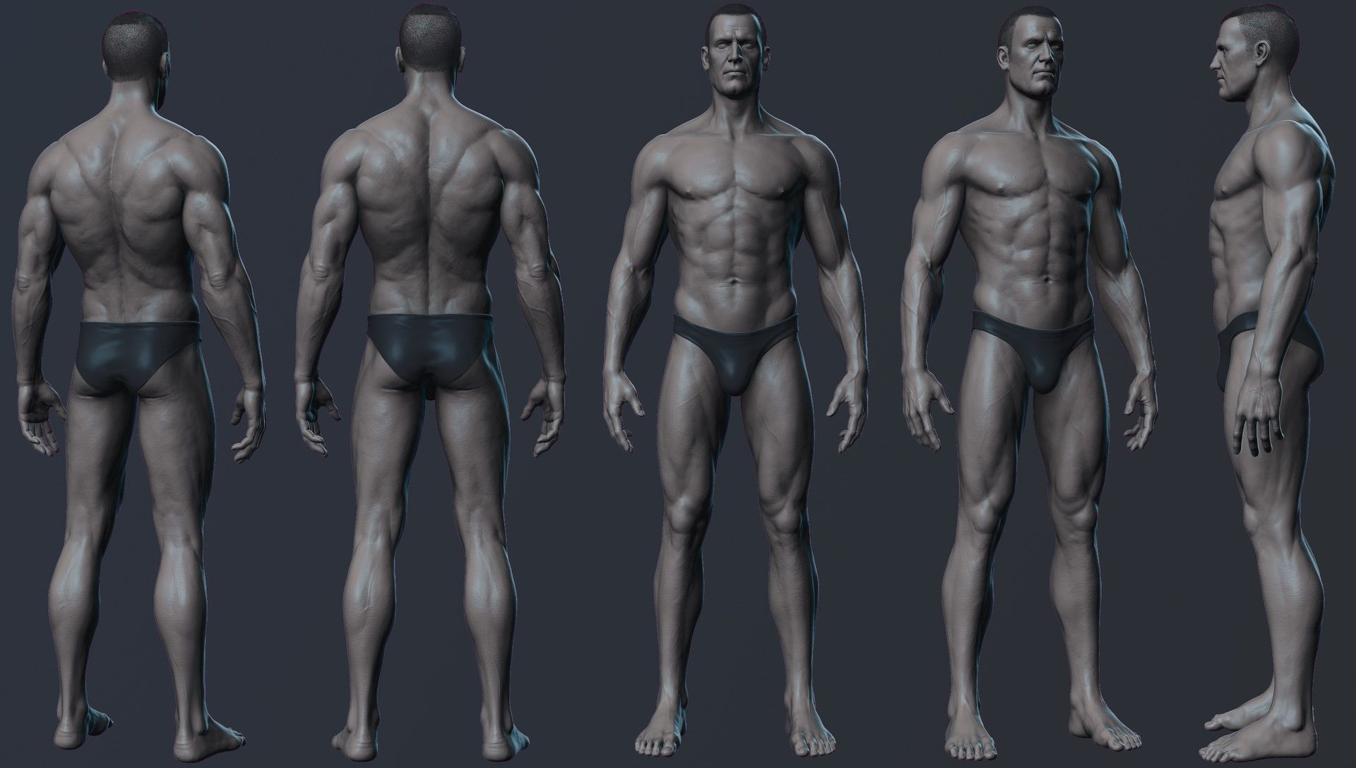 ArtStation - Male anatomy practic., Nikolay Chugunov | blueprint ...