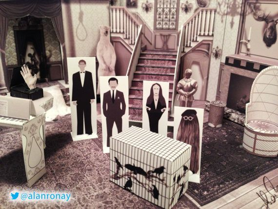 Diy Papercraft House Digital Download Cemetary Lane Etsy Addams Family House Addams Family Addams Family Tv Show