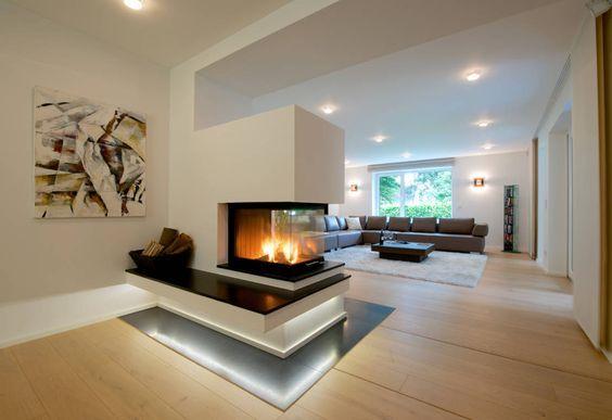 Wohnbereich mit Kamin  kamin  Kamin wohnzimmer Wohnbereich und Offener kamin