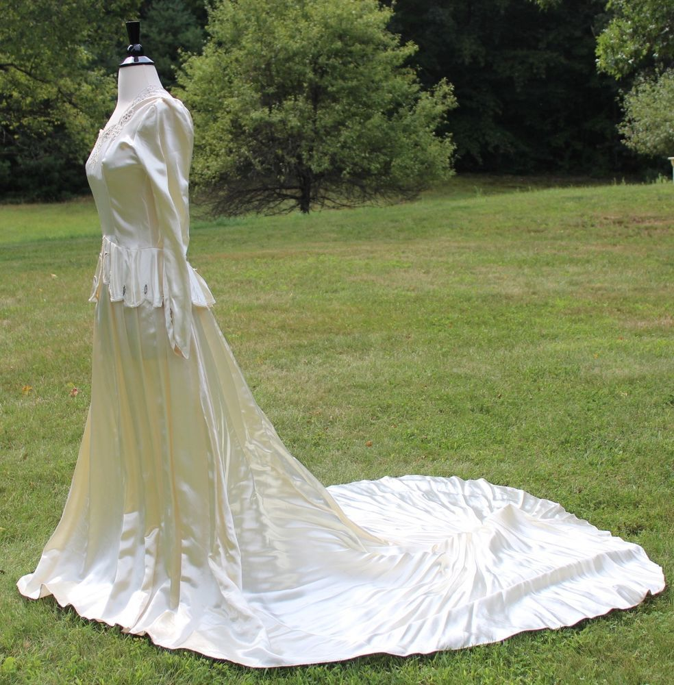 S hollywood glamorous wedding dress long train seed beading