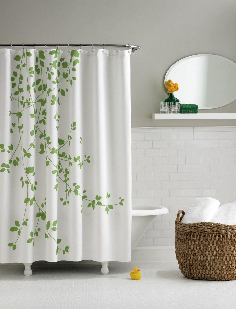 Beautiful Bathroom Design with Modern Shower Curtains : Modern ...