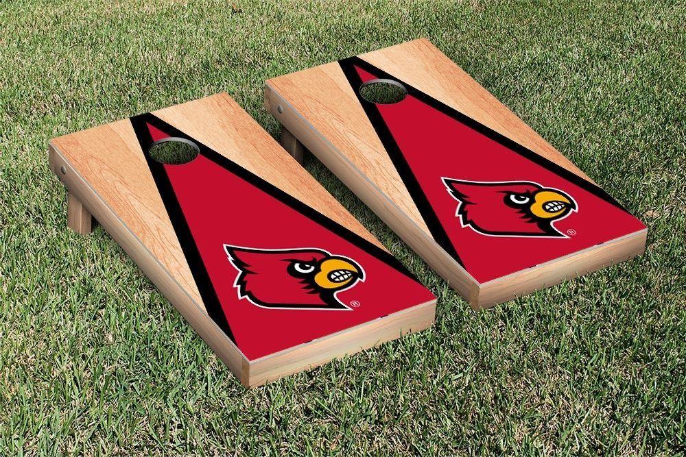 Louisville Cardinals Triangle Hardcourt Cornhole Bag Toss Game