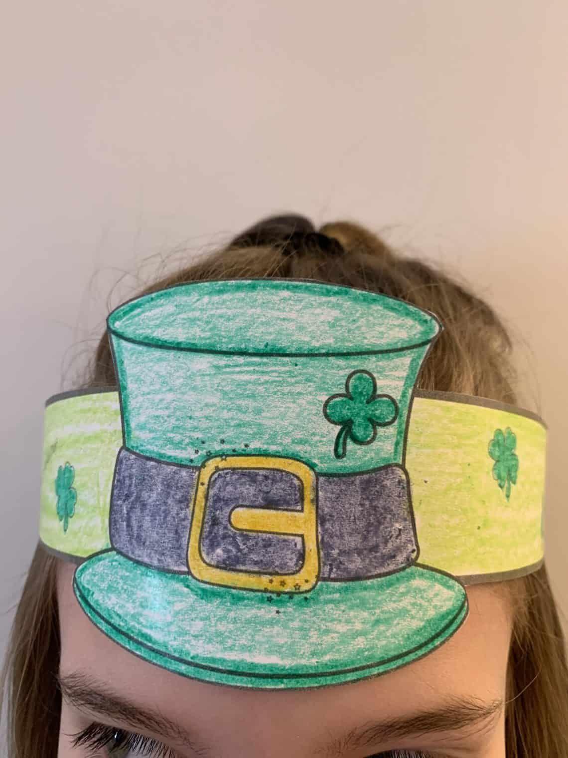 Simple St Patrick S Day Leprechaun Hat Coloring Craft