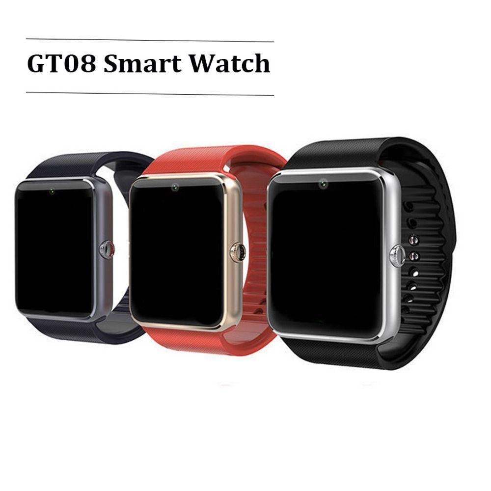 Smart Watch GT08 Clock Sync Notifier Support Sim Card