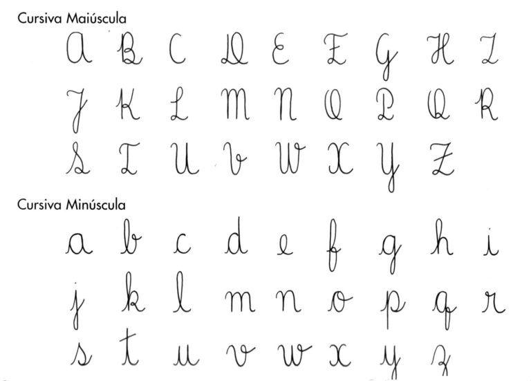 55 Atividades De Caligrafia Com Letra Cursiva Con Imagenes