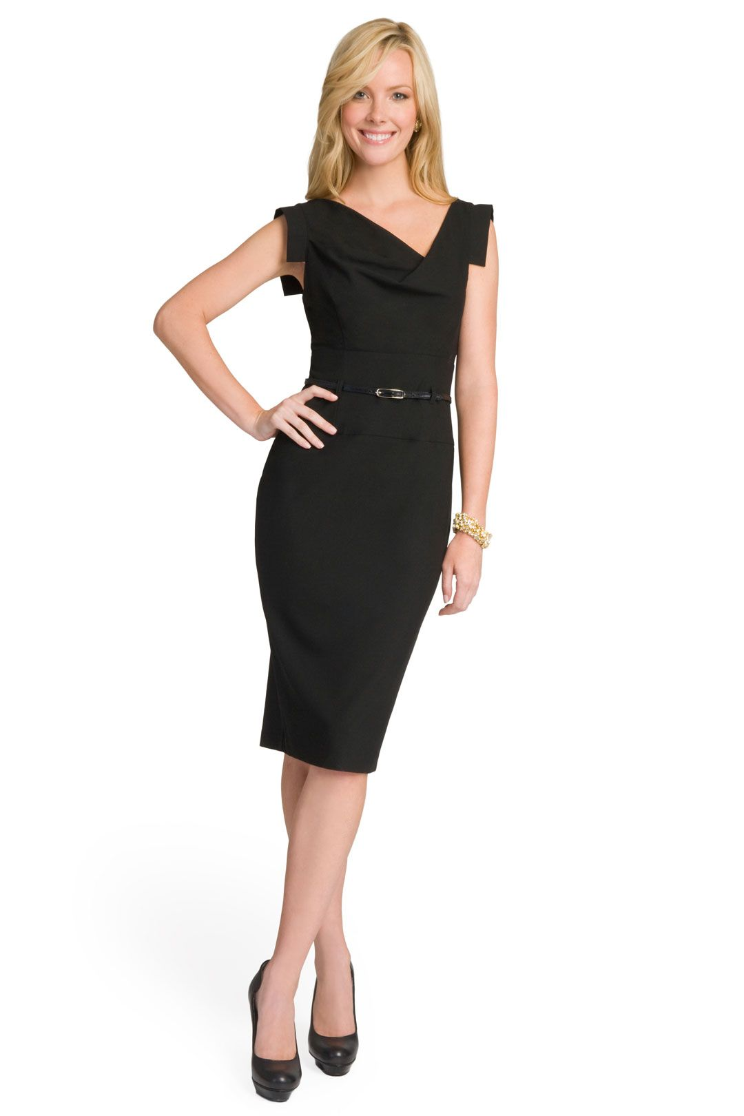 bf611e5c2bfb I want to own this dress so badly! THE Essential LBD for work!   Black Halo  — Jackie O Dress