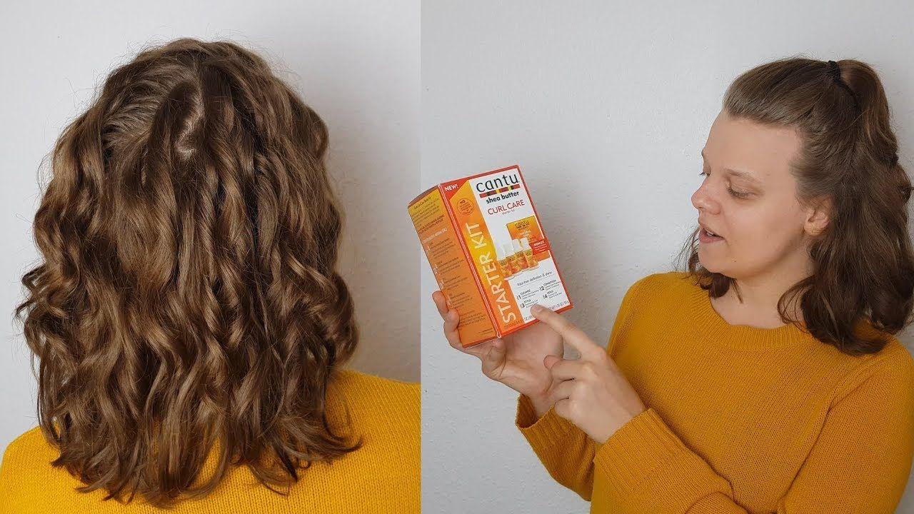 Nie Mehr Trockene Locken Und Wellen Haare Cantu Shea Butter Curly Gir Krauses Welliges Haar Wellen Haare Locken Machen