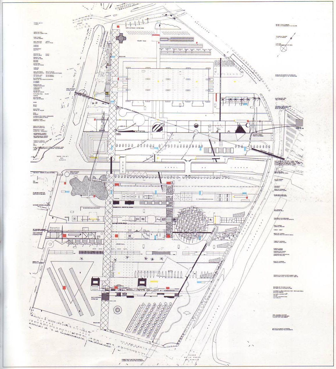 oma parc de la villette diagram brake light wiring toyota 4runner spaces pinterest urban