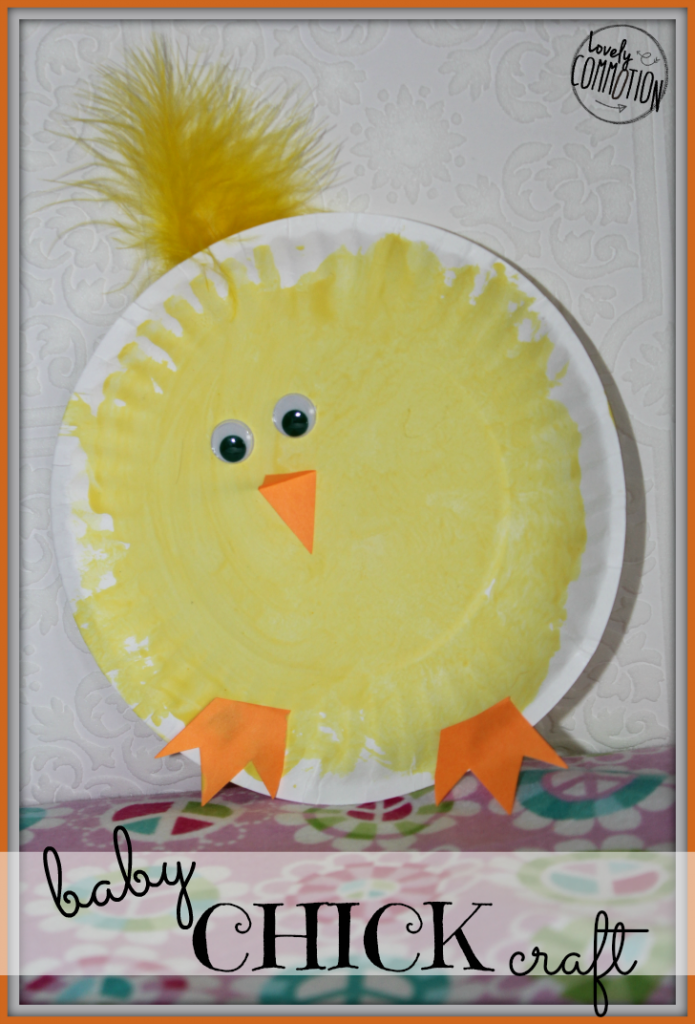 Baby Chick Easter Craft Lovely Commotion