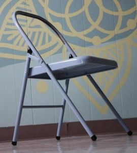 Folding Metal Yoga Chair Ikea Basket For Iyengar Yogasana Props