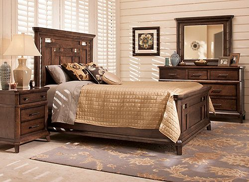 Distinctive Lines With A Nod To Mission Style Mdash The Acorn Hill 4 Piece King Bedroom Set Blends C King Bedroom Sets Platform Bedroom Sets Bedroom Sets Queen