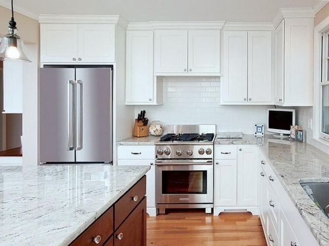 Modern White Quartz Kitchen Countertops