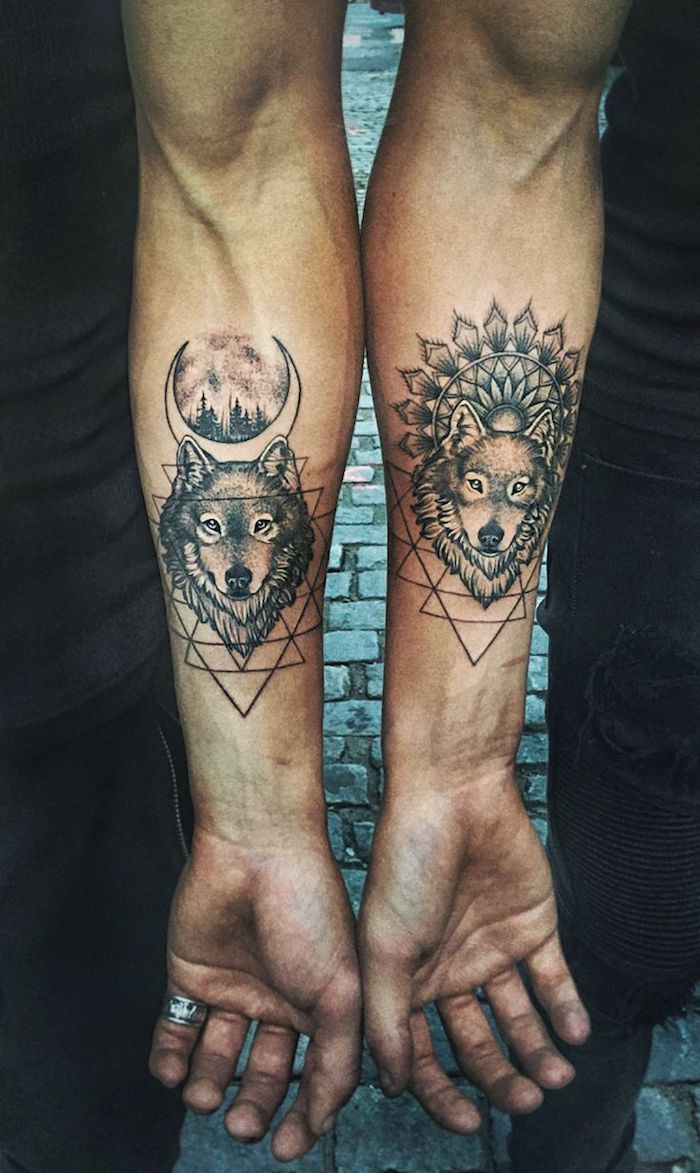 Tatouage Loup Bras Homme 3dliveproject