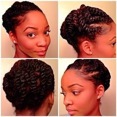Need A Cute Protective Style? - 18 Flat Twist Updo Styles You ...