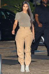 Kim Kardashian & Kanye West Casual Utility Outfit. #kimk #kimwest #kimwest #kimkardashian … #datenightoutfit