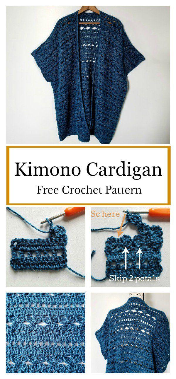 Free PatternHaken Kimono Water's Cardigan Crochet Edge mwvnPN80yO