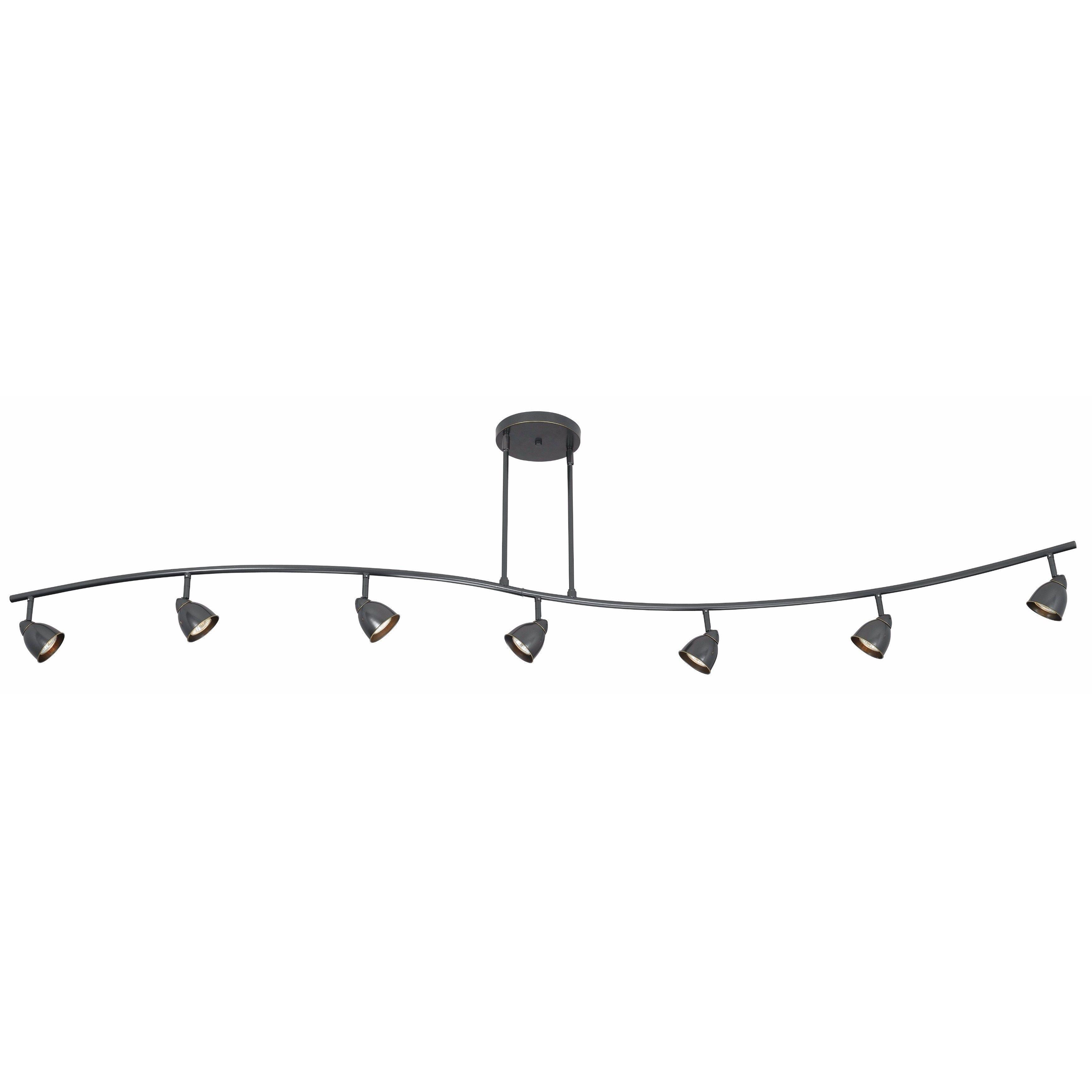Serpentine Brown Metal 7-light Track-style Fixture (Track Lights ...