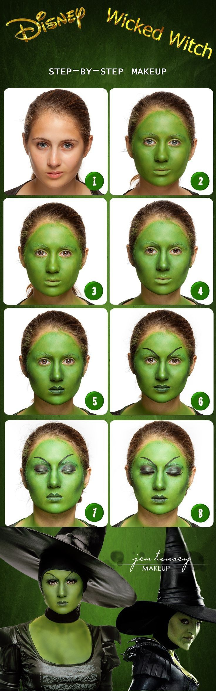 Diy disney wicked witch halloween makeup my face pinterest diy disney wicked witch halloween makeup baditri Images