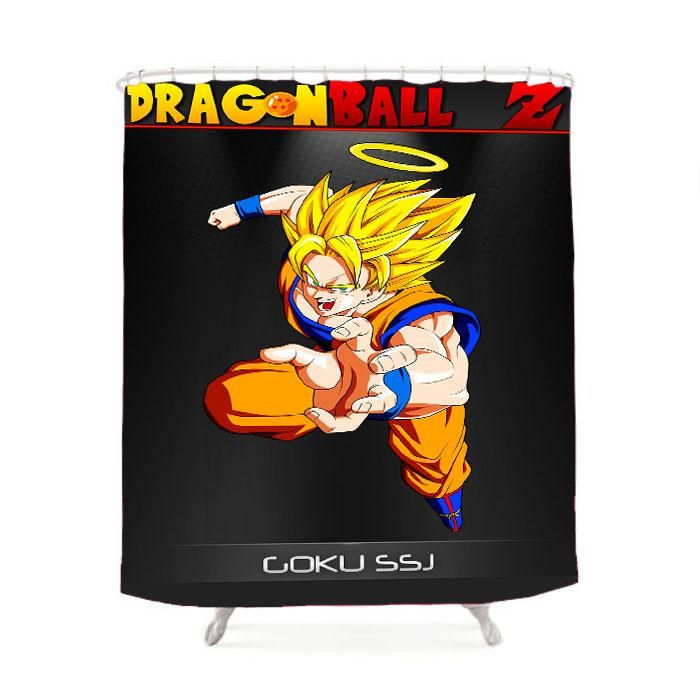 Dragon Ball Z Goku Ssj Ring Shower Curtain