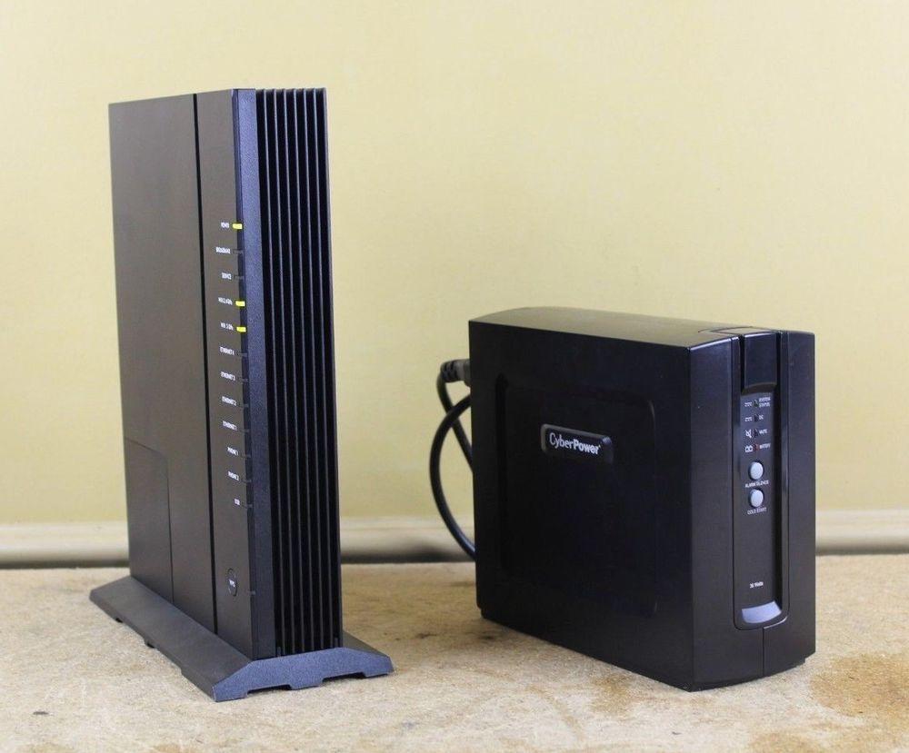 Calix GigaCenter Router Modem 844GE-1 w/ Cyber Power Backup