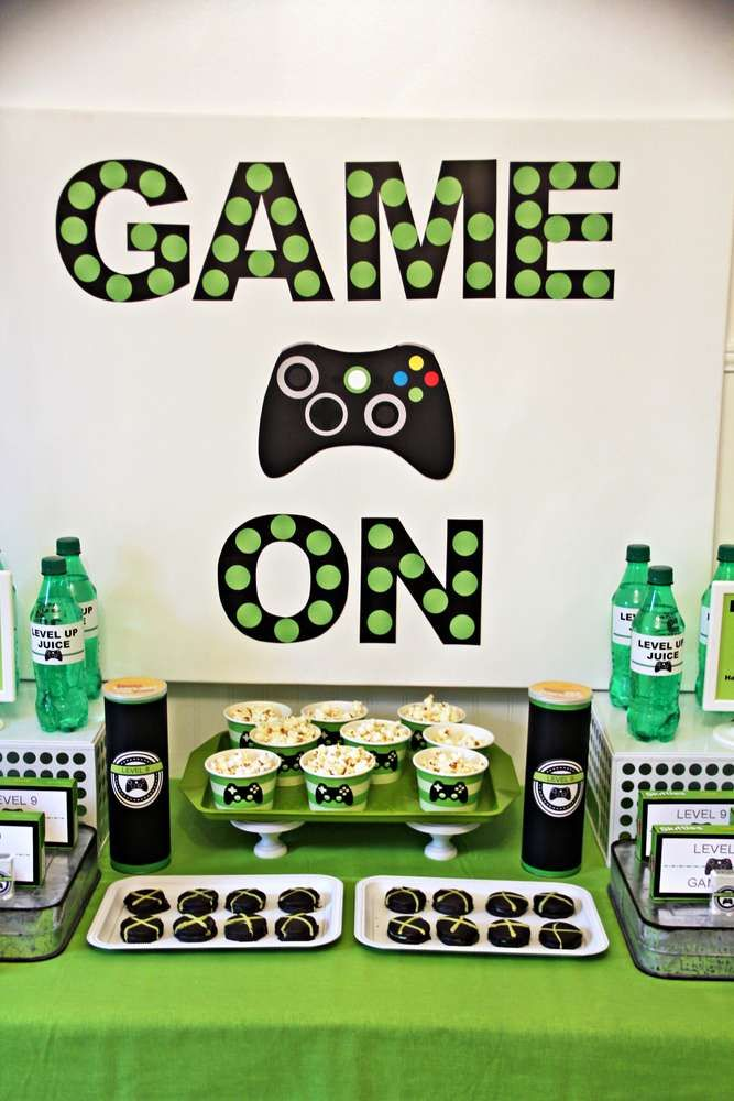 Jacob's Xbox Birthday CatchMyParty com 13th Birthday in 2019 Boy birthday parties, Xbox  -> Decoração De Festa Xbox